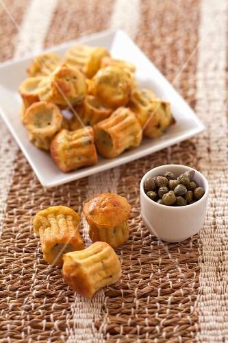 Sardine and caper mini savoury Cannelés