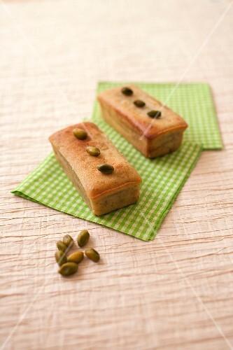Mini pistachio pound cakes