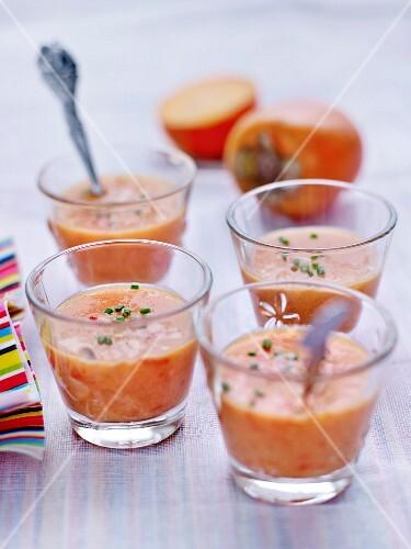 Persimmon and tomato gazpacho