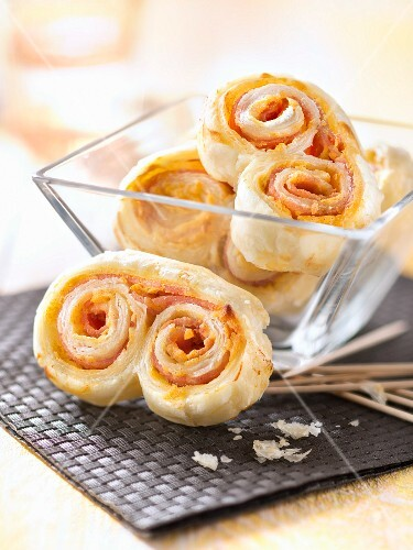 Ham and cheddar twirl appetizers