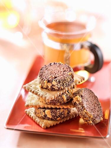 Tea and cocoa biscuit Diamants