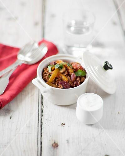 Chili con carne mini casserole