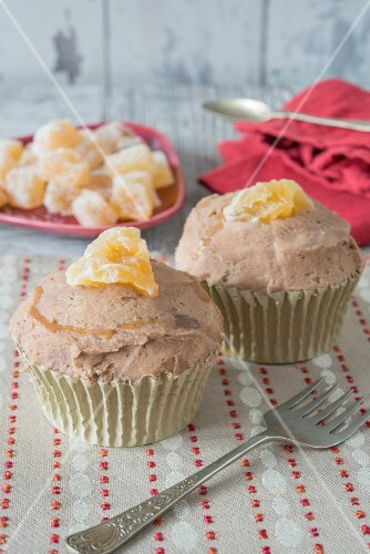 Cupcakes with candied ginger