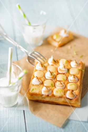 Lemon meringue waffles