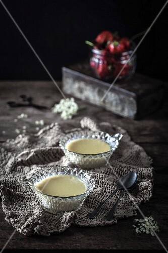 Elderflower panna cottas