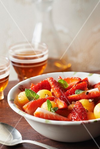 Plougastel strawberry fruit salad