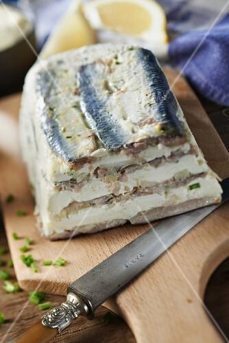 Sardine,cream and Roscoff onion terrine