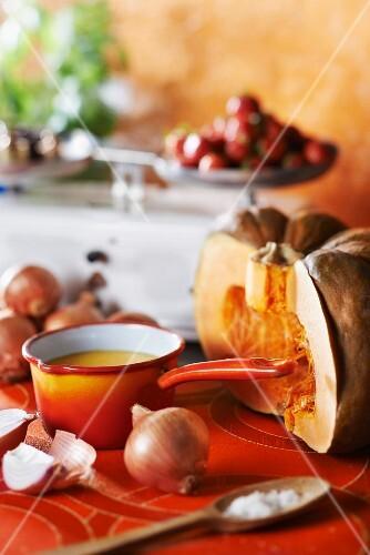 Pumpkin and onion soup