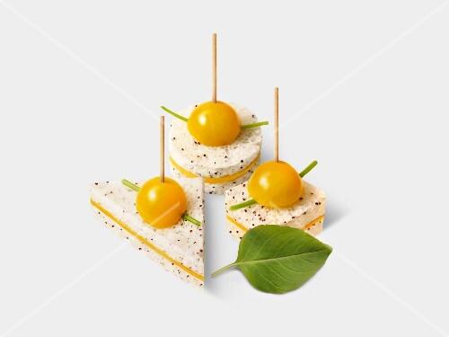 Yellow canapés