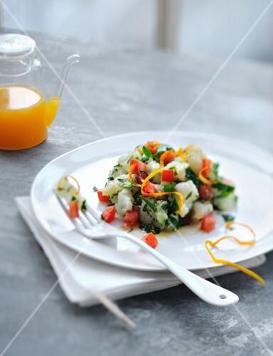 Monkfish,herb and orange zest tartare