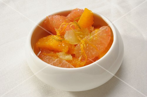 Citrus fruit soup