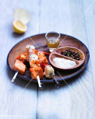 Island fish skewers with rum