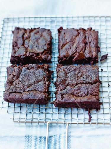 Chocolate and zucchini brownies