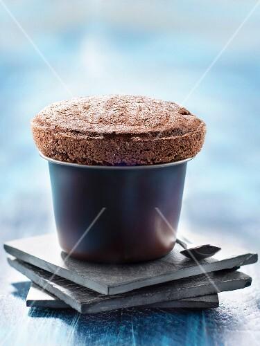 Dark chocolate and coconut soufflé