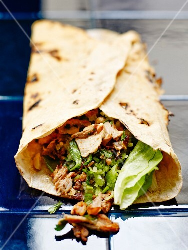 Mixed veal and herb kebab