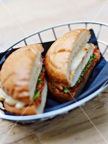 Chicken and parmesan burger