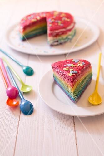 Pancake rainbow cake
