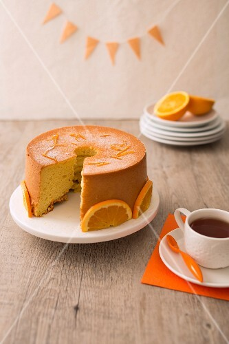 Orange chiffon cake