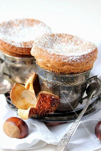 Chestnut cream soufflés