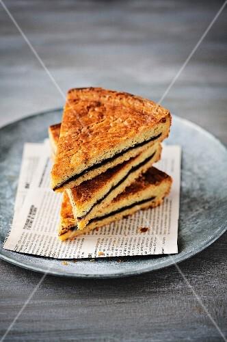 Black cherry jam cake