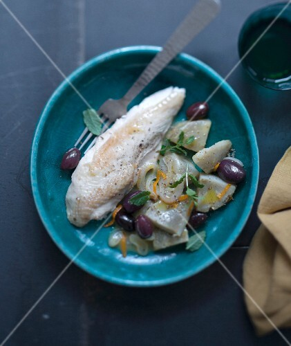 Chicken, artichoke, olive and orange tajine