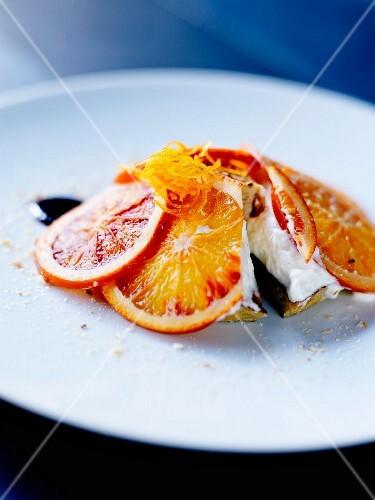 Bourriol à l'orange et à l'échaudé at The Café Bras restaurant in Rodez
