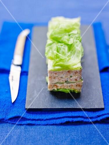 Cabbage,shrimp and parmesan crumble Pressé