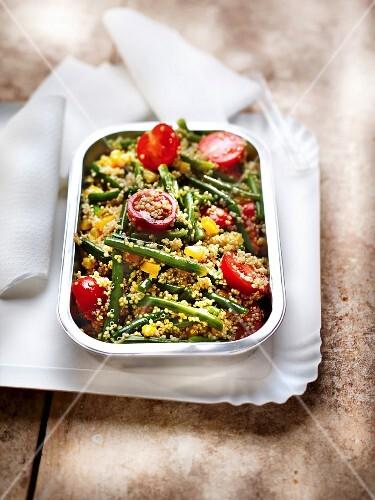 Quinoa and summer vegetable salad