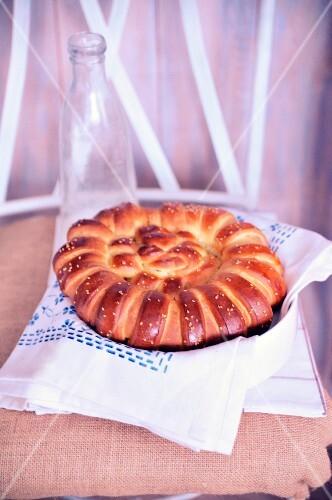 Tunisian brioche bread