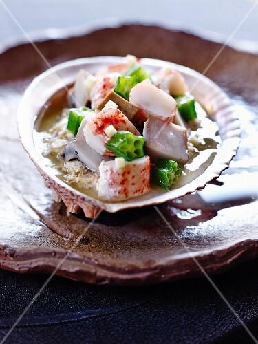 Tofu mit Seeohrleber