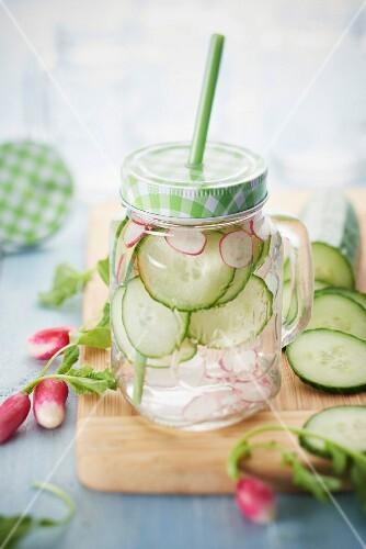 Radish-cucumber detox water