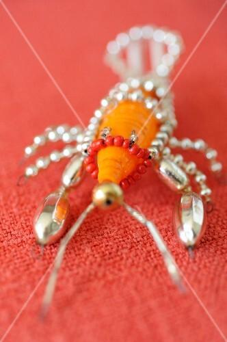 Animal-shaped orange Christmas decoration