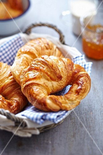 Traditional croissants