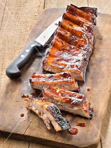 Glazed spare-ribs