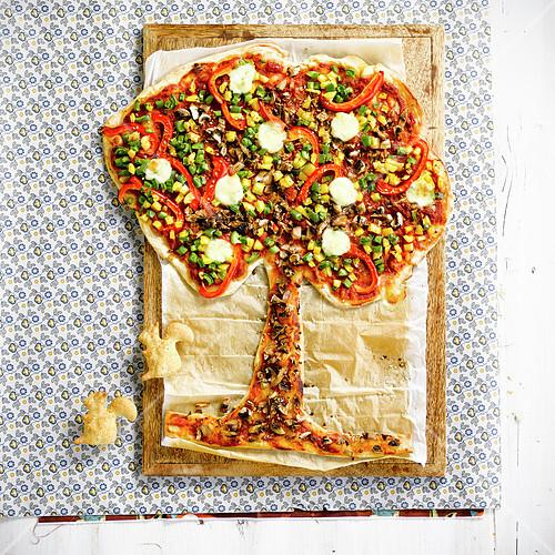 Tree-shaped pizza