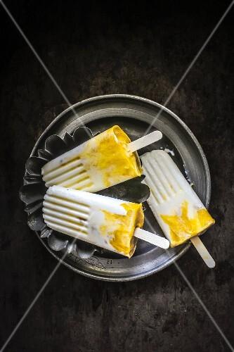 Lassi and mango ice cream bars