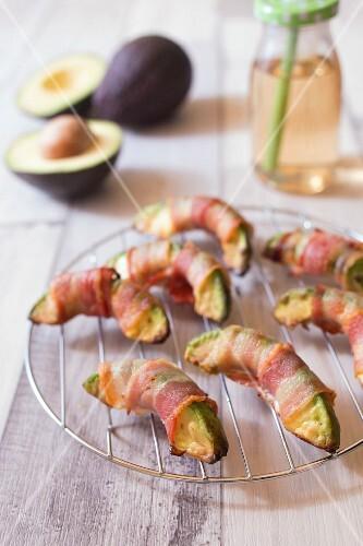 Roasted avocado with bacon