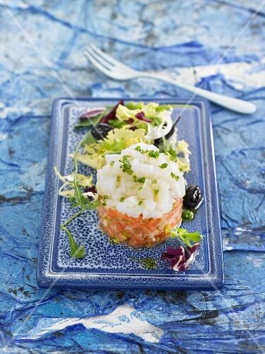 Stockfish and tomato tartare