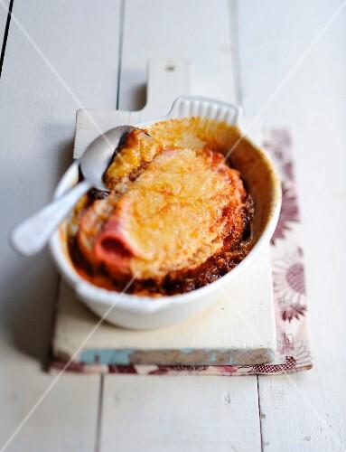 Au jambon et à la confiture d'oignons