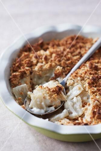 Swiss chard buckwheat crumble