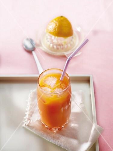 Orange and lemon juice cocktail
