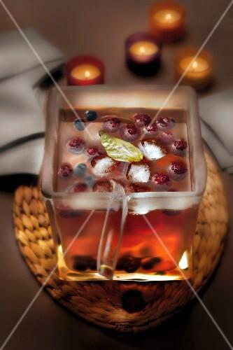Three berry and basil Sangria