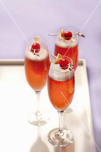Glasses of Kir Royal