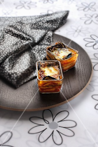 Mini gratinated aubergine lasagne