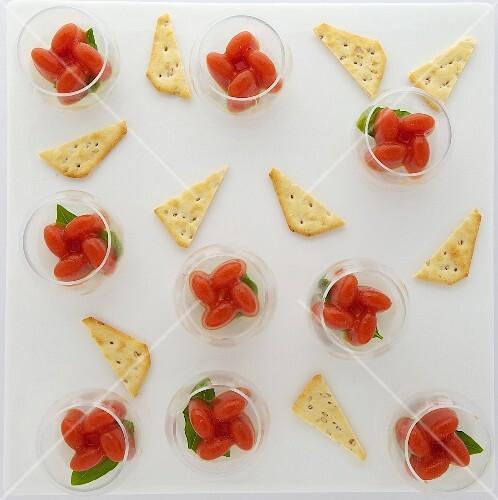 Tomato-mozzarella Verrines with Tucs crackers