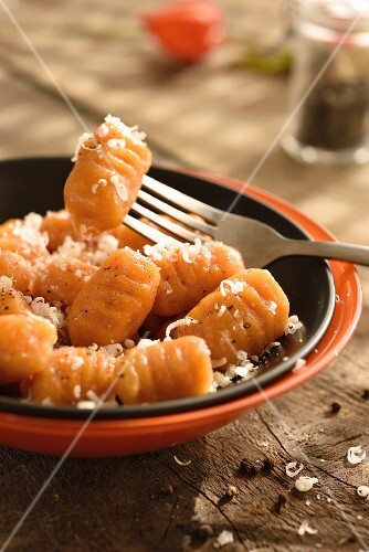 Squash from Nice and Sechuan pepper gnocchi's with parmesan