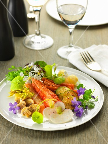 Crab and vegetable dish with paprika