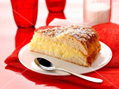Slice of Ttropézienne tart