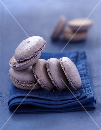 Lavander Macarons before filling