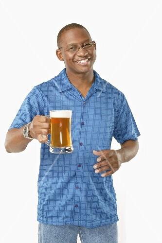 Man alone with Mug of Beer